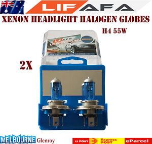 2x-55W-12V-5000K-H4-Super-White-Headlight-Xenon-Halogen-Globes-Car-Light-Bulb-A1