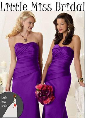 Cadbury Purple Bridesmaid Dress Dresses Evening Ball Party Prom Formal Wedding