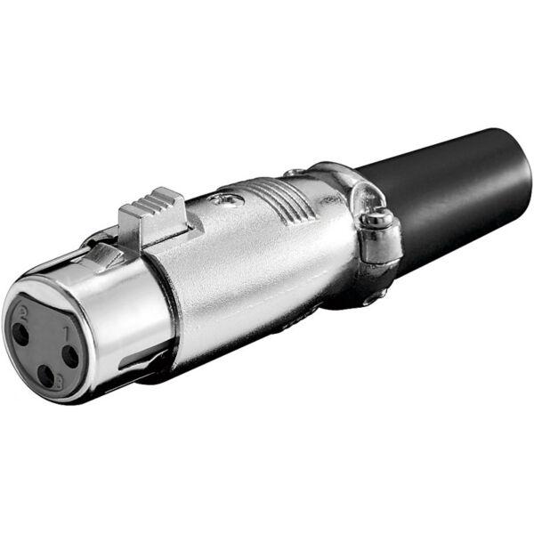 2 Stück Goobay Xlr Mikrofonkupplung , 3-polig Uitstekend In Kusseneffect