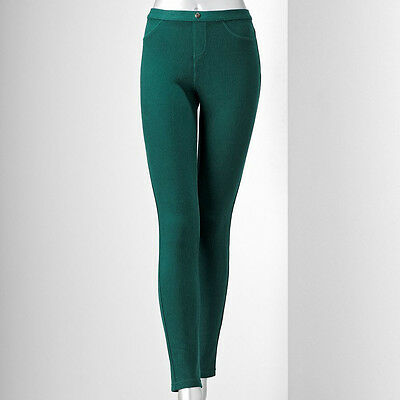 SIMPLY VERA VERA WANG chino legging size S #BOTTLE GREEN @ $24.99 (RETAIL $36)
