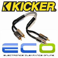 Kicker Car Audio Proffesional 0.3 Metre RCA Phono Cables Leads 1 Pair of RCA