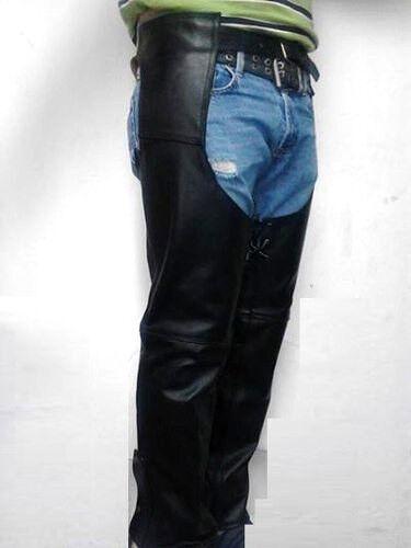 Chap bottes, Crougech haute S'étendant sur les côtés en cuir véritable fait à votre taille