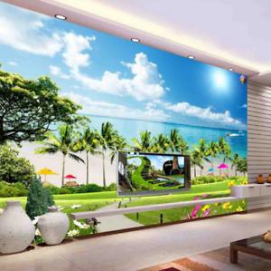 3D Tropical Beach 857 Wall Paper Murals Wall Print Wall Wallpaper Mural AU Kyra