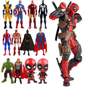 Marvel-Avengers-Deadpool-Spiderman-Wolverine-Thor-Model-PVC-Action-Figures-Toys