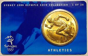 Commemorative Australia 2000 5 Dollars~sydney Olympics~athlete Running~free Shipping