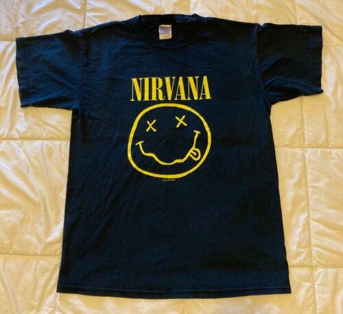 Vintage - Nirvana 1992 - Smiley Face - T Shirt - S