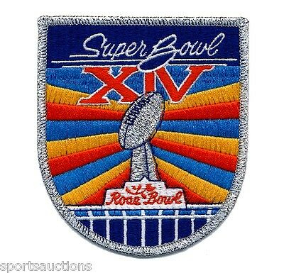 SUPER BOWL 14 ~ Steelers vs Rams OFFICIAL SB XIV Willabee & Ward NFL PATCH ONLY