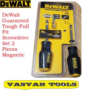 DeWalt Guaranteed Tough Full Fit Screwdriver Set 2 Pieces Magnetic
