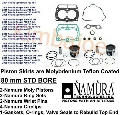 2 PISTON RING KIT FITS Polaris SPORTSMAN 700 EFI 2002 2003 2004 2005 2006 2007