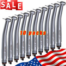 10pcs Sandent Nsk Pana Max Style Dental High Speed Handpiece Push Button 4 Hole