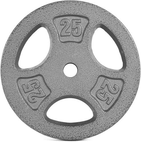 """New CAP 25 lb Cast Iron Standard Weight 1/"""" Grip Plate"""