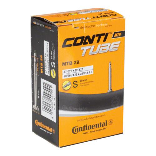 "Continental Presta Valve Tube 29 x 1.75-2.5/""//60mm Valve"