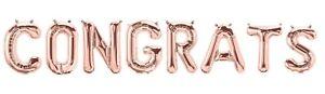 Congratulazioni complimenti Foil Balloon Banner Kit Laurea Festa di fidanzamento  </span>