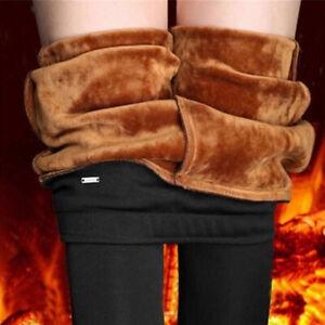 Winter-Velvet-Plus-Size-Leggings-Women-039-s-Casual-Mid-Waist-Long-Trousers-Pants