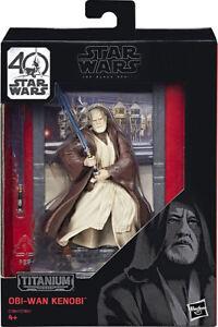 Star-Wars-Obi-Wan-Kenobi-Hasbro-Titanium-Edition-40TH-ANNIVERSARY-Action-Fig