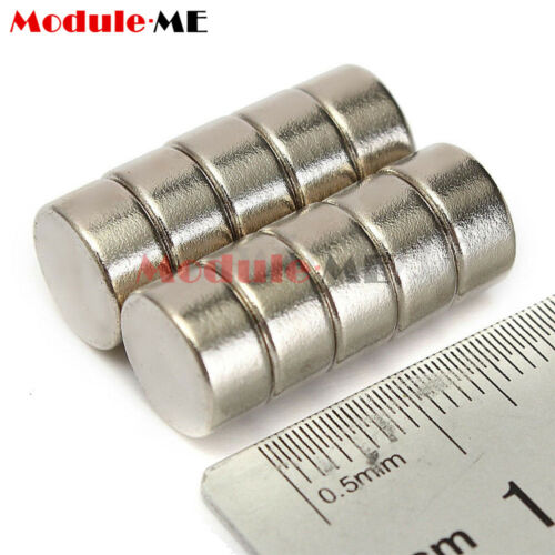 10Pcs 10 x 5mm Strong Round Cylinder Rare Earth Neodymium Magnets Magnet N52 UK