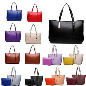 Ladies Designer Pu Leather Large Tote Bag Shoulder Reversible Handbag Women by Ebay Seller