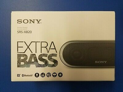 Sony XB20 Portable Wireless Speaker with Bluetooth BlackBRAND NEW EXTRA BASS