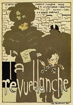 AP88 Vintage 1896 La Revue Blanche French Advertisement Poster Card Print A5
