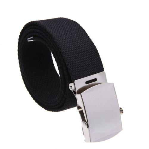 Cinturon de tela Banda de cintura Cinturon Negro Hombre 38mm Z5E7