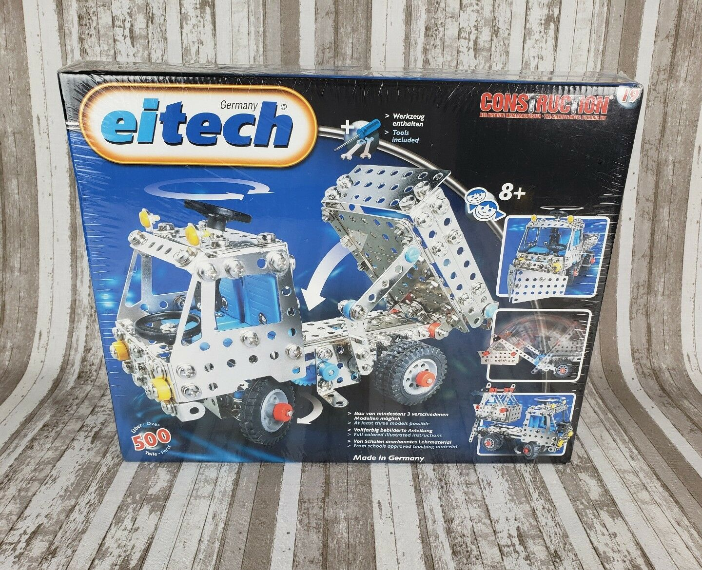 Eitech Construction 19 Creative Metal Building Kit 500 Parts W Tools Germany NEW