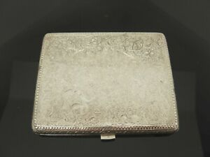 ANTIQUE-DECORATIVE-INDIAN-INDO-PERSIAN-SOLID-SILVER-CIGARETTE-CASE-CARD-CASE