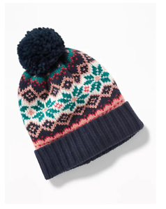 208e64ee61e Old Navy Women s One Size NWT Navy Blue Green Red Winter Knit Hat ...