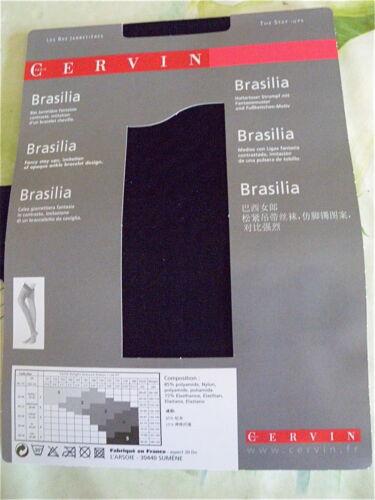 bas jarretière brasilia 20 dn CERVIN PARIS neuf emballé HAUT DE GAMME taille 2
