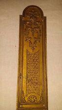 """Antique Vintage Embossed Brass Metal Door Push Finger Plate 2 3/8 """"x 8 5/8"""""""
