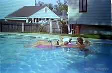 1970s Pretty Girl Bikini, Showing Topless in Pool & Clothed Photo Negative Strip