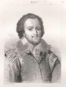 Charles-Amedee-de-Savoie-Duc-DE-Nemours-Gravure-XIXe