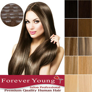 Invisible Seamless Clip in Remy Human Hair Weft Extensions Forever ... 6e8a78670486