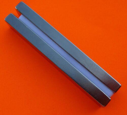 "The World's 2Pc Super Strong Neodymium Magnet N45 3 x 1//2 x 1//4/"" Bars"
