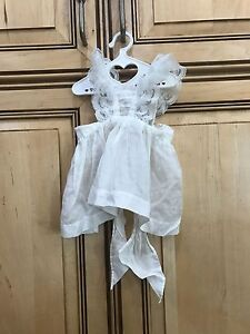 "American Girl Doll 18"" Samantha Retired Birthday Dress Lacy Pinafore ONLY PC"