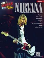 Nirvana Sheet Music Easy Guitar Play-along Book And Audio 000122325