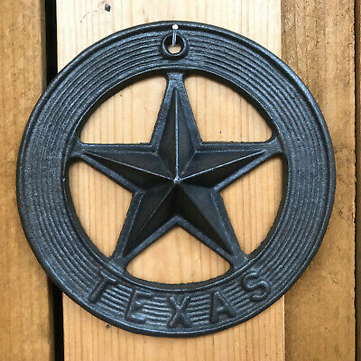 10 SMALL Cast Iron HORSESHOE Texas Lone Star Rustic Ranch HORSE SHOE
