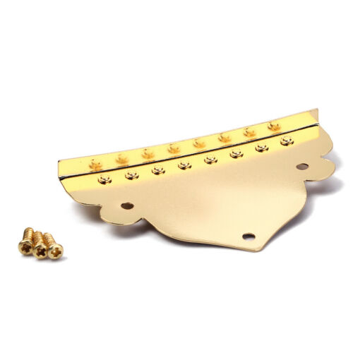 8 Saiten Mandolinen Saitenhalter mit 3 Schrauben für Mandolinen Ersatz Gold