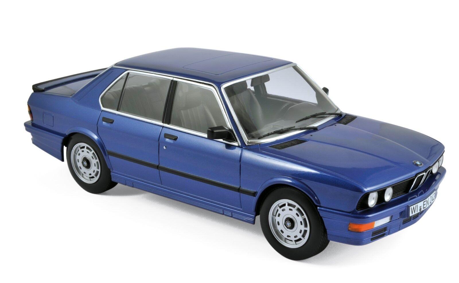 BMW m535i 1987 bleu métallisé 1 18 Norev 183267 NOUVEAU & NEUF dans sa boîte