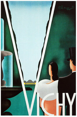 Fashion POSTER.Stylish Graphics.Vichi.Elegant Deco Couple.Art Decor.261i