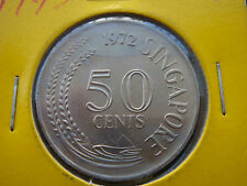 1972 Singapore 50 Cents Coin