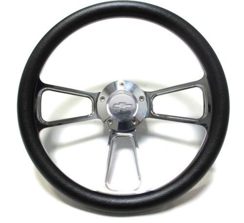 Billet Adapter 1974-1994 Chevy C//K Series Pick-Up Truck Black Steering Wheel
