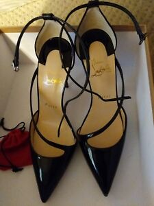 brand new ac38c 74fd4 Details about christian louboutin Fliketta 100 Patent Black. Brand New 7B  Very Sexy Heels.