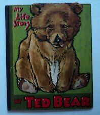 Scarce ~ MY LIFE STORY By TED BEAR Lift-up bear mouth German printed Children