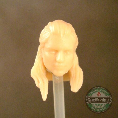 """FH081 Custom Cast Female Head utiliser avec 3.75/"""" Gi joe Star Wars Marvel figures"""