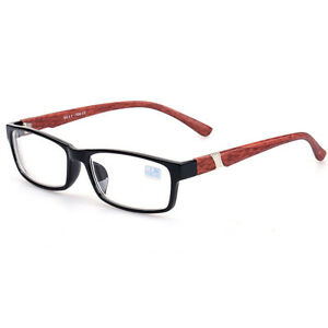 Glasses Frames Arms : Wood Arms Myopia Eyeglasses Nearsighted Glasses -1.0 -1.5 ...