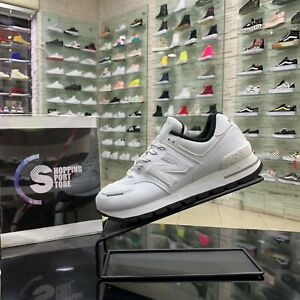 Details about NEW Balance 574 shoes Sneakers Sports Casual Canvas Leather White Summer 2021- show original title