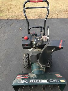 craftsman snowblower used in good working condition 9 hp. Black Bedroom Furniture Sets. Home Design Ideas