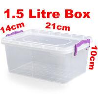 1.5L 1.5 Litre Clip Handle Plastic Trendy Storage Food Multi Box Container 21110