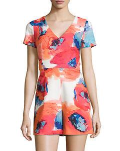 neck Multicolor 4 Turk Trina Sz Jumpsuit V Short 1112b10 sleeve wUXxW8q5