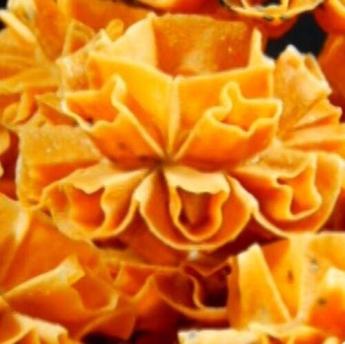 Dok Jok Brass Mold Thai Honeycomb Cookie Sunflower Biscuit DIY Party Fun 8cm dia